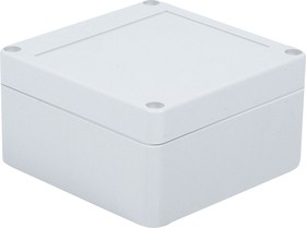 Фото 1/4 G2100, Корпус для РЭА 100х100х55мм, пластик, светло-серый