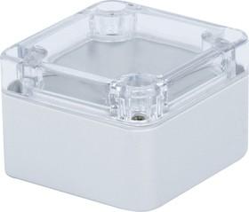 Фото 1/2 G250C, Корпус для РЭА 52х50х35мм, пластик, с прозрачной крышкой