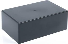 G1039BA, Корпус для РЭА 218х138х79.5, пластик, черный, алюминиевая панель