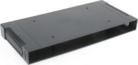 Фото 1/4 G17082UBK, Корпус для РЭА 431х203х86, пластик, черный, с вентиляционными отверстиями