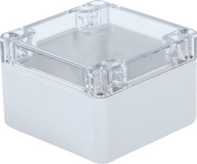 Фото 1/2 G256C, Корпус для РЭА 82х80х55мм, пластик, с прозрачной крышкой