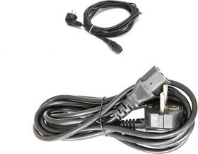 Кабель сетевой ПВС-АП 3*0.75, 220В прямой (черный) 1.8м