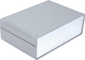 G731A, Корпус для РЭА 260х180х85мм, пластик, темно-серый, алюминиевая панель