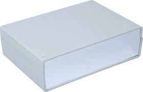 G751A, Корпус для РЭА 245х175х70мм, пластик, светло-серый, алюминиевая панель
