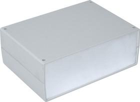 G752A, Корпус для РЭА 245х175х90мм, пластик, светло-серый, алюминиевая панель