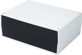 G752, Корпус для РЭА 245х175х90мм, пластик, светло-серый, черная панель