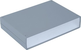 G720A, Корпус для РЭА 245х175х50мм, пластик, темно-серый, алюминиевая панель