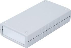 G452A, Корпус для РЭА 190х100х40мм, пластик, светло-серый, алюминиевая панель