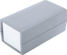 G425A, Корпус для РЭА 190х100х80мм, пластик, темно-серый, алюминиевая панель
