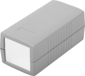 Фото 1/2 G412A, Корпус для РЭА 120х60х50мм, пластик, темно-серый, алюминиевая панель