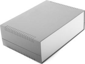 G731, Корпус для РЭА 260х180х85мм, пластик, темно-серый, светло-серая панель