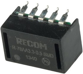 Фото 1/2 R-78AA3.3-0.5SMD, Module DC-DC 1-OUT 3.3V 0.5A 10-Pin DIP SMD Tube