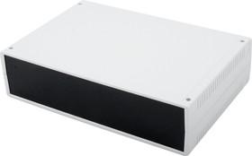 G756, Корпус для РЭА 300х200х75мм, пластик, светло-серый, черная панель