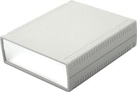 G765A, Корпус для РЭА 156х180х52мм, пластик, светло-серый, алюминиевая панель