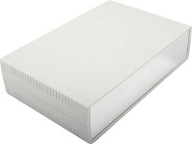 Фото 1/2 G756A, Корпус для РЭА 300х200х75мм, пластик, светло-серый, алюминиевая панель
