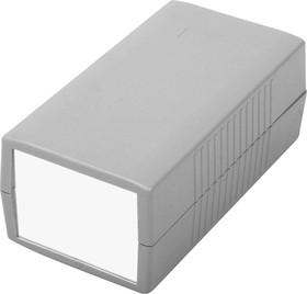 G418A, Корпус для РЭА 150х80х60мм, пластик, темно-серый, алюминиевая панель