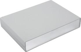 Фото 1/2 G747A, Корпус для РЭА 225х165х40 мм, пластик, светло-серый, алюминиевая панель