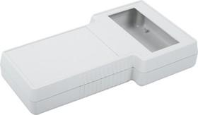 G858G(O), Корпус фигурный с отверстием под ЖКИ 237х131x45, пластик, серый
