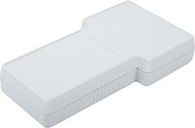 G858G(S), Корпус фигурный 237x131x45, пластик, серый