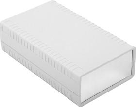 G761A, Корпус для РЭА 95х158х47 мм, пластик, светло-серый, алюминиевая панель