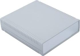 G764A, Корпус для РЭА 156х180х44мм, пластик, светло-серый, алюминиевая панель
