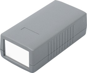 G410A, Корпус для РЭА 120х60х40мм, пластик, темно-серый, алюминиевая панель
