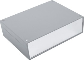 G716A, Корпус для РЭА 225х165х65мм, пластик, темно-серый, алюминиевая панель