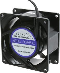 EC8038A2HBL, Вентилятор 220В, 80х80х38мм , подш. качения, 2300 об/мин