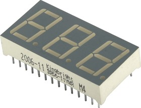 BA56-11YWA, Индикатор 14.2мм 3х7 желтый ОА, 4.7мКд