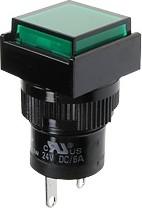 Фото 1/2 D16PLS1-000GG, Индикатор зеленый 220В/неон