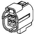 Фото 1/2 174257-2, 4-pos Econoseal J-Mark II+ Plug HSG, Разъем