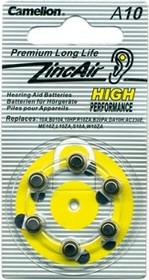 Фото 1/2 ZA10, Элемент питания воздушно-цинковый(для слуховых аппаратов)(6шт) 1.4В