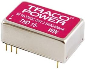 THD 15-2422WIN, DC/DC CONVERTER,9-36VI,+/-12VO 625MA,15W