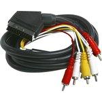 BW1115, Шнур межблочный SCART - 6 RCA стерео 2.0м