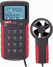 UT361, Измеритель скорости и температуры воздушного потока, термоанемометр