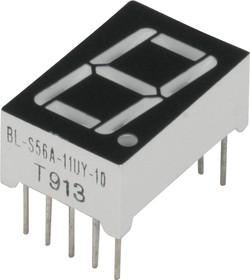 BL-S56A-11UY, Индикатор желтый 12.60х19.00мм 38мКд, общий катод