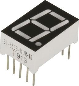 BL-S56B-11UR, Индикатор красный 12.60х19.00мм 50мКд, общий анод