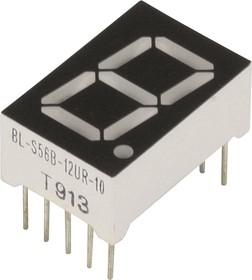 BL-S56B-12UR, Индикатор красный 12.60х19.00мм 50мКд, общий анод