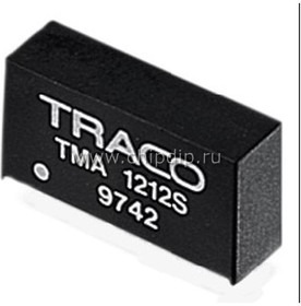 Фото 1/2 TMA 2415S, DC/DC преобразователь, 1Вт, вход 21.6-26.4В, выход 15,-15В/65мА