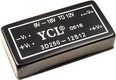 3D250-12S12, DC/DC преобразователь, 3Вт, вход 9-18B, выход 12B/ 0.25A