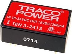 TEN 3-2412, DC/DC преобразователь, 3Вт, вход 18-36В, выход 12В/250мА