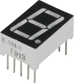 BL-S56A-11UB, Индикатор синий 12.60х19.00мм 70мКд, общий катод