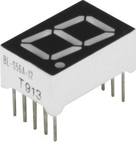 BL-S56A-12UR, Индикатор красный 12.60х19.00мм 50мКд, общий катод