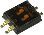 NHDS-02, Переключатель DIP 2поз. 1.27мм (SMD)