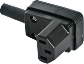 Фото 1/2 AC-102R, Розетка сетевая на кабель угловая 220в