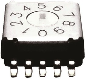 A6KS-104RF, Rotary switch,SMT,5x2 trm
