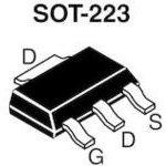 Фото 5/6 IRFL110TRPBF ( IRFL110PBF), Транзистор, N-канал 100В 1.5А [SOT-223]