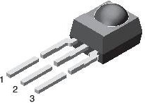 Фото 1/2 TSOP34836, ИК-приемник 36кГц