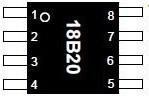 Фото 1/2 DS18B20U+, цифровой термометр