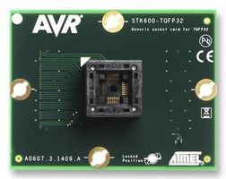 ATSTK600-TQFP32 (ATSTK600-SC10), Дочерний модуль с ZIF-сокетом под корпус TQFP32 для ATSTK600